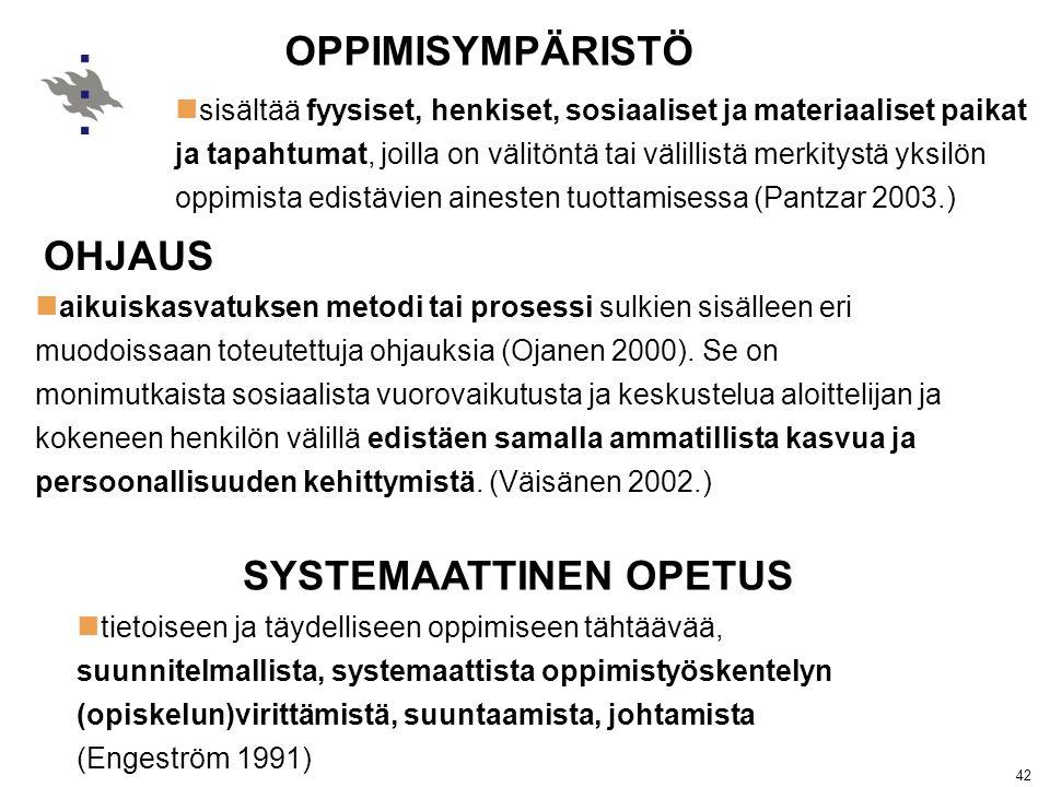 SYSTEMAATTINEN OPETUS