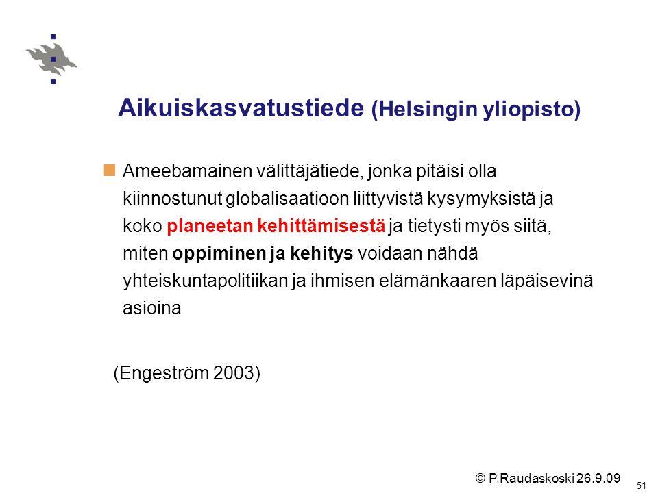 Aikuiskasvatustiede (Helsingin yliopisto)