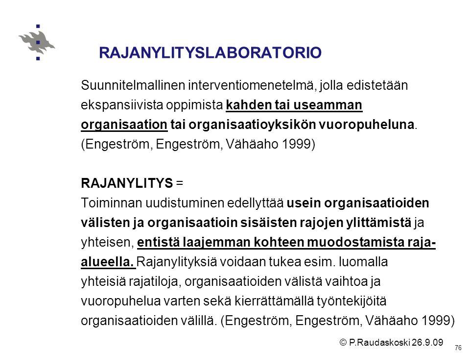 RAJANYLITYSLABORATORIO