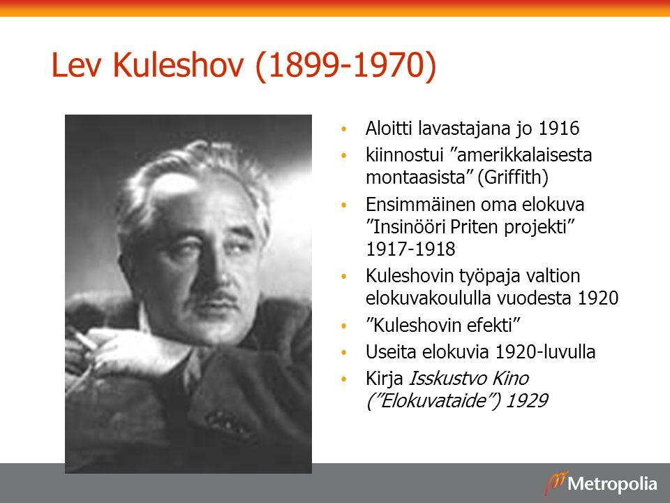 Lev Kuleshov (1899-1970) Aloitti lavastajana jo 1916