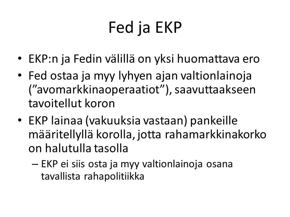 Fed ja EKP EKP:n ja Fedin välillä on yksi huomattava ero