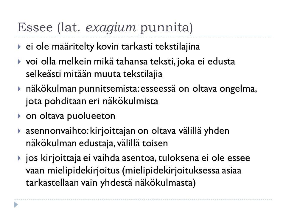 Essee (lat. exagium punnita)