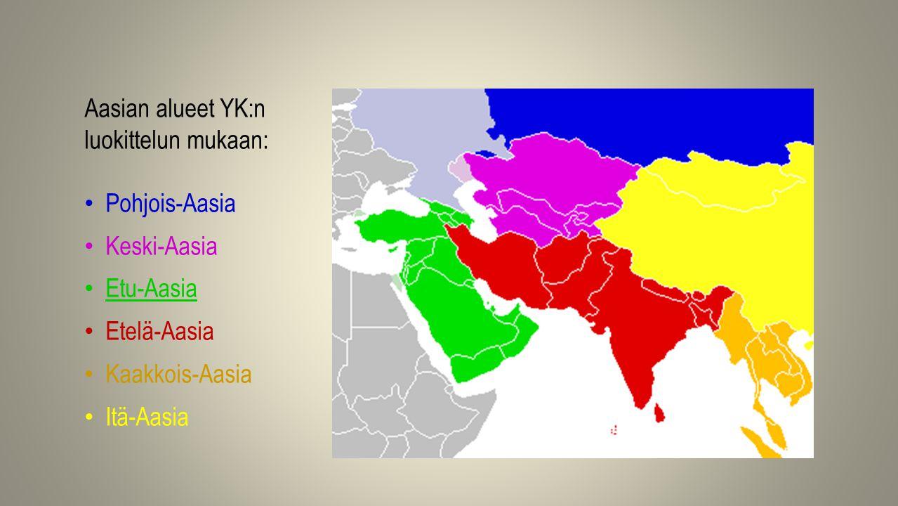 Aasian alueet YK:n luokittelun mukaan: