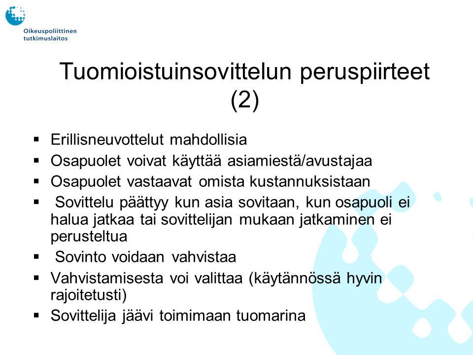 Tuomioistuinsovittelun peruspiirteet (2)