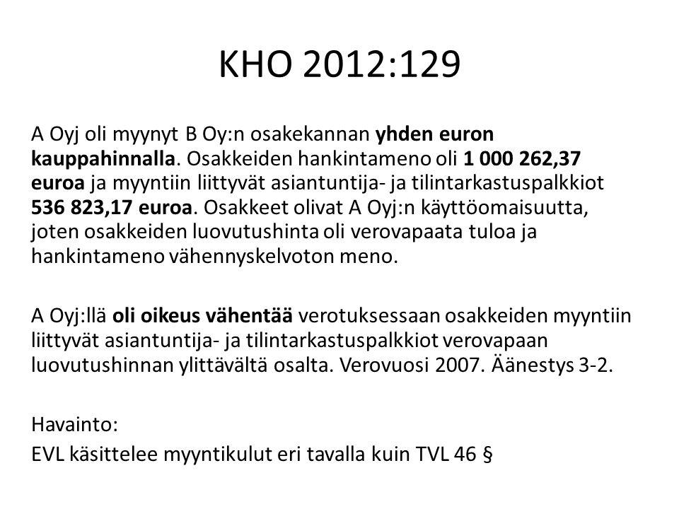 KHO 2012:129