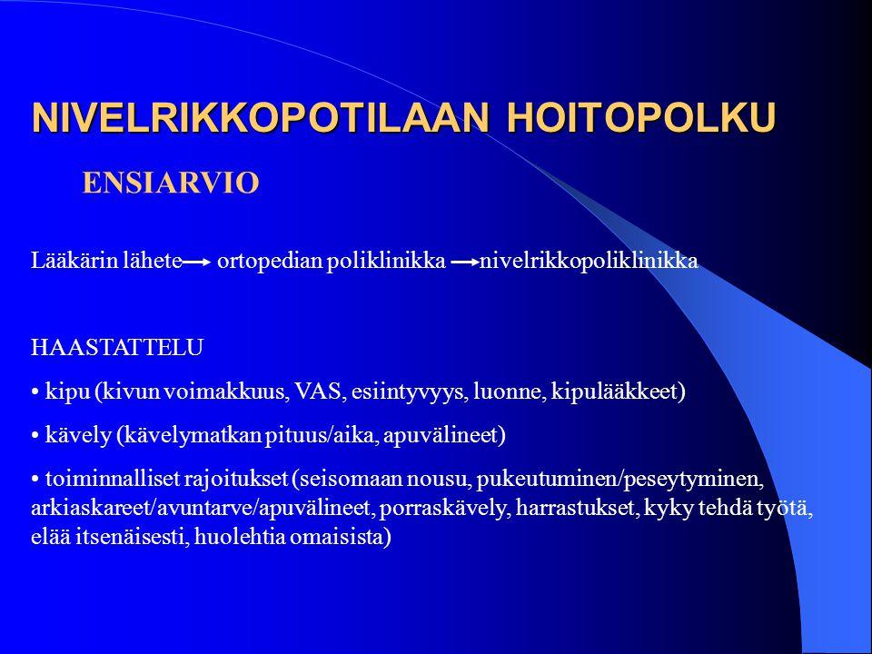 NIVELRIKKOPOTILAAN HOITOPOLKU