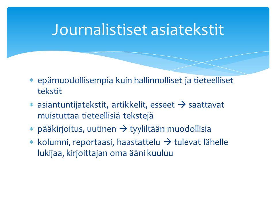 Journalistiset asiatekstit