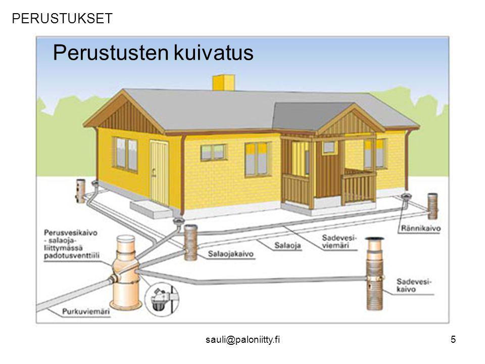 PERUSTUKSET Perustusten kuivatus sauli@paloniitty.fi