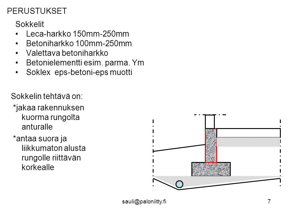 Valettava betoniharkko Betonielementti esim. parma. Ym