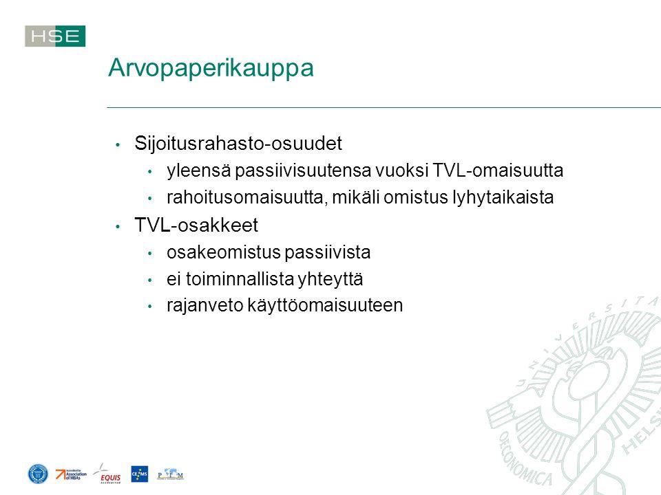 Arvopaperikauppa Sijoitusrahasto-osuudet TVL-osakkeet
