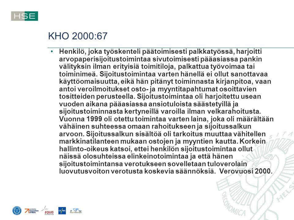 KHO 2000:67