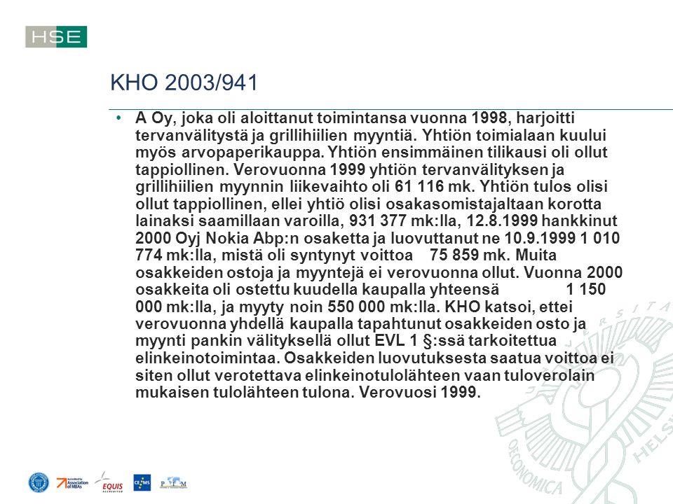 KHO 2003/941