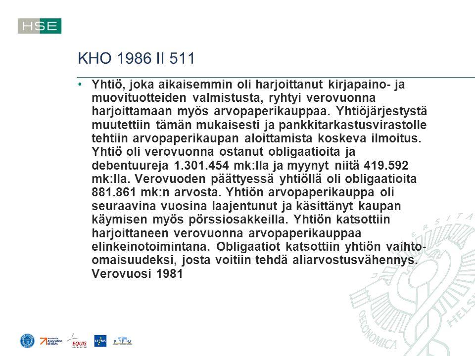 KHO 1986 II 511