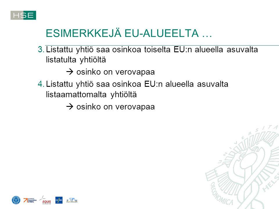 ESIMERKKEJÄ EU-ALUEELTA …