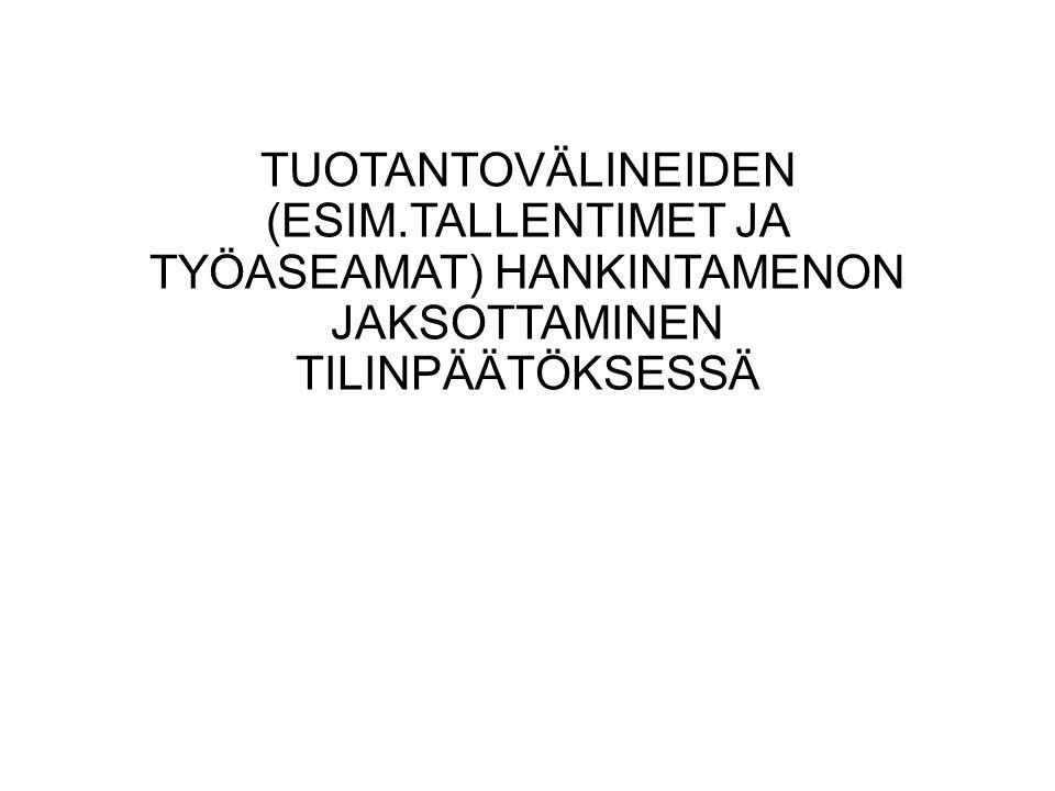 TUOTANTOVÄLINEIDEN (ESIM