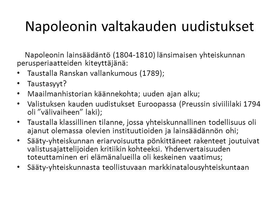 Napoleonin valtakauden uudistukset