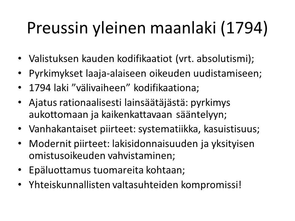 Preussin yleinen maanlaki (1794)