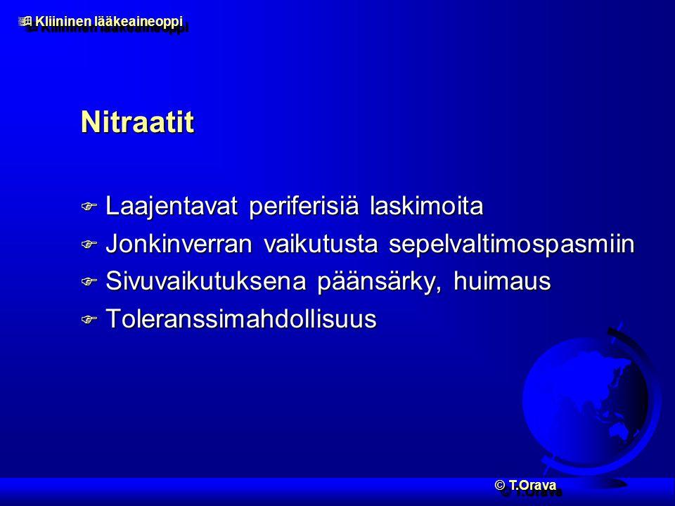 Nitraatit Laajentavat periferisiä laskimoita