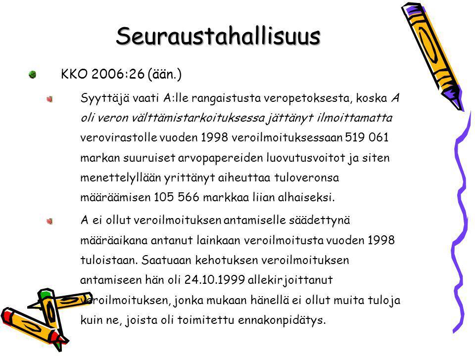 Seuraustahallisuus KKO 2006:26 (ään.)