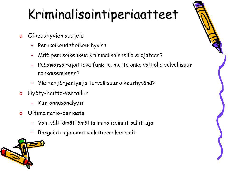 Kriminalisointiperiaatteet