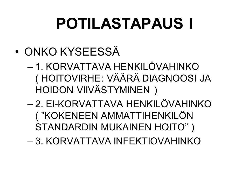 POTILASTAPAUS I ONKO KYSEESSÄ