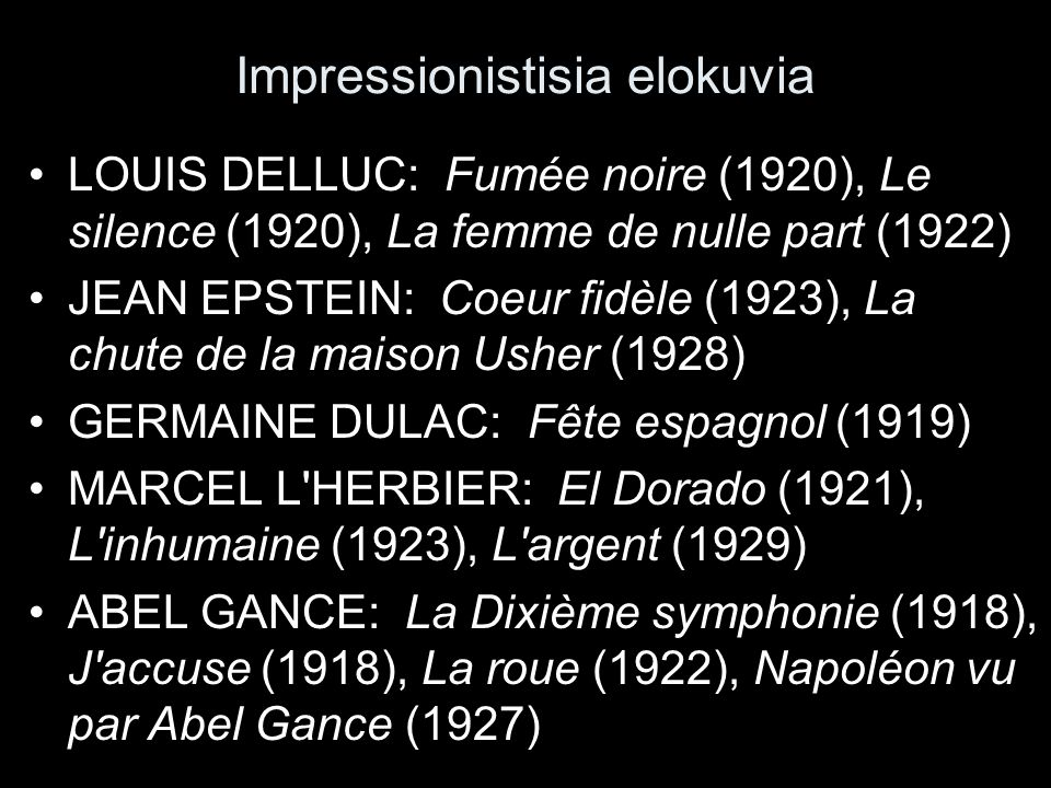 Impressionistisia elokuvia