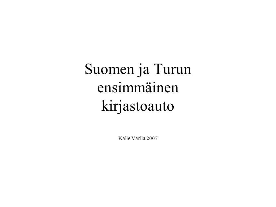 Suomen ja Turun ensimmäinen kirjastoauto