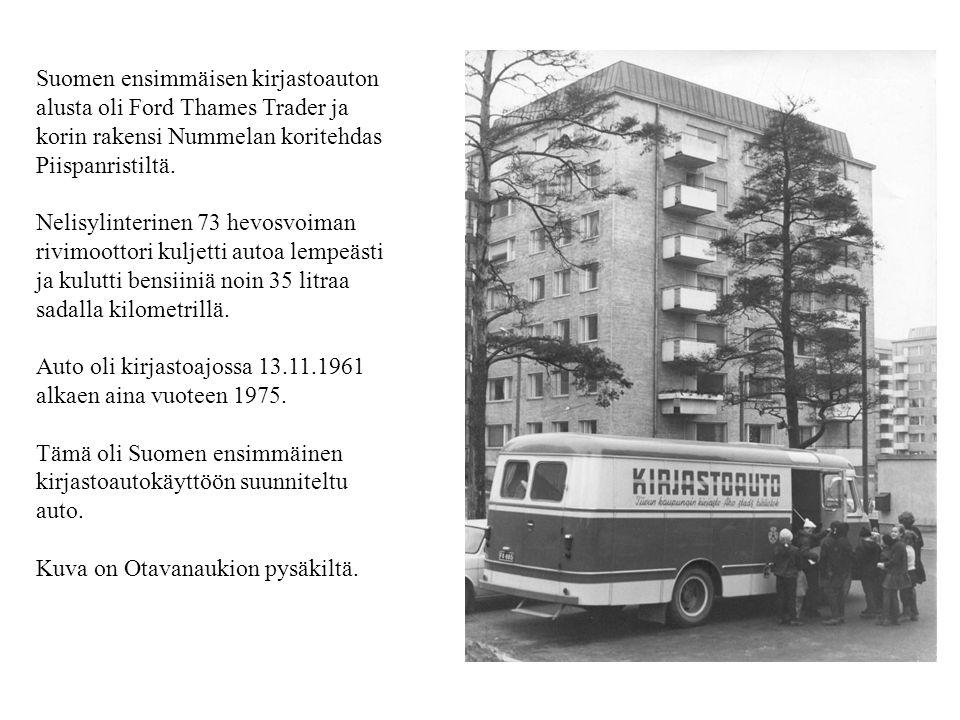 Suomen ensimmäisen kirjastoauton
