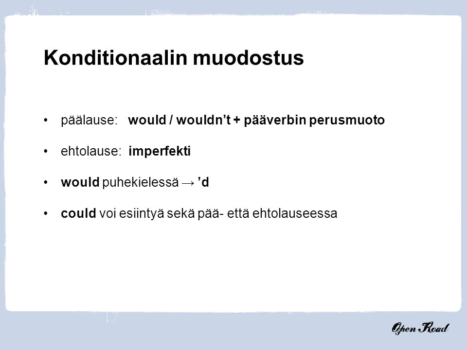 Konditionaalin muodostus
