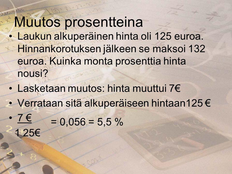 Alkuperäinen hinta