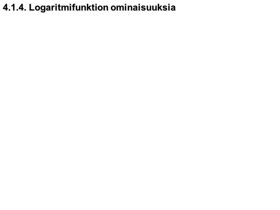 4.1.4. Logaritmifunktion ominaisuuksia