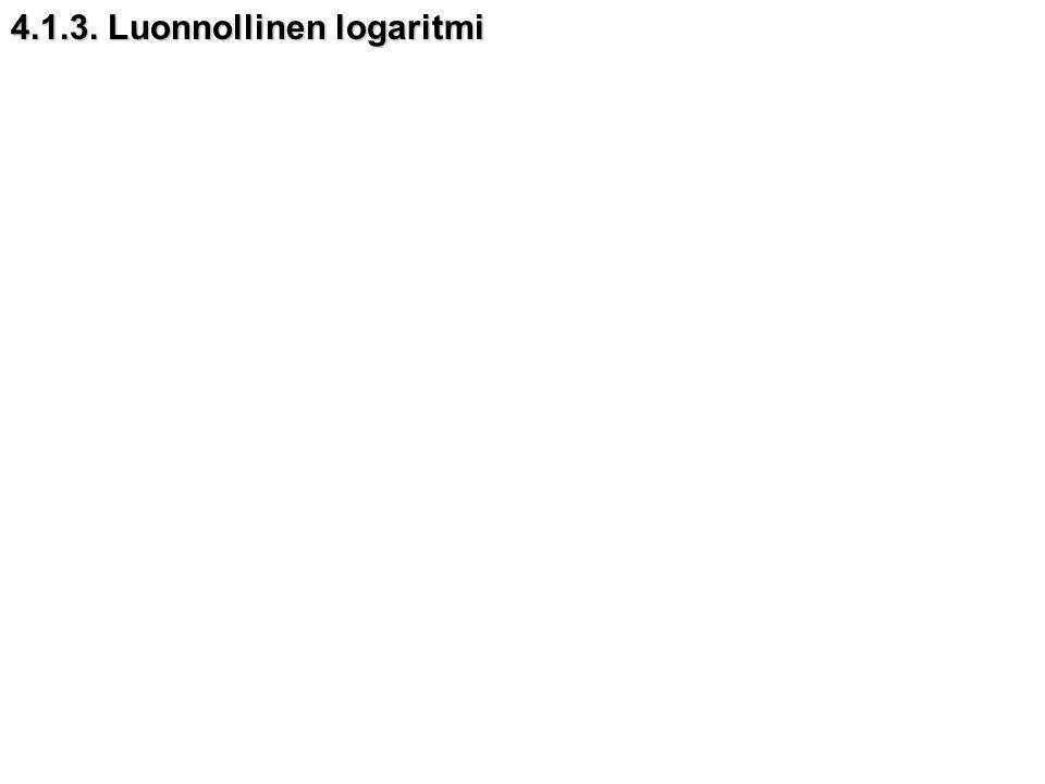 4.1.3. Luonnollinen logaritmi