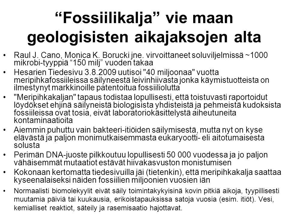 Fossiilikalja vie maan geologisisten aikajaksojen alta