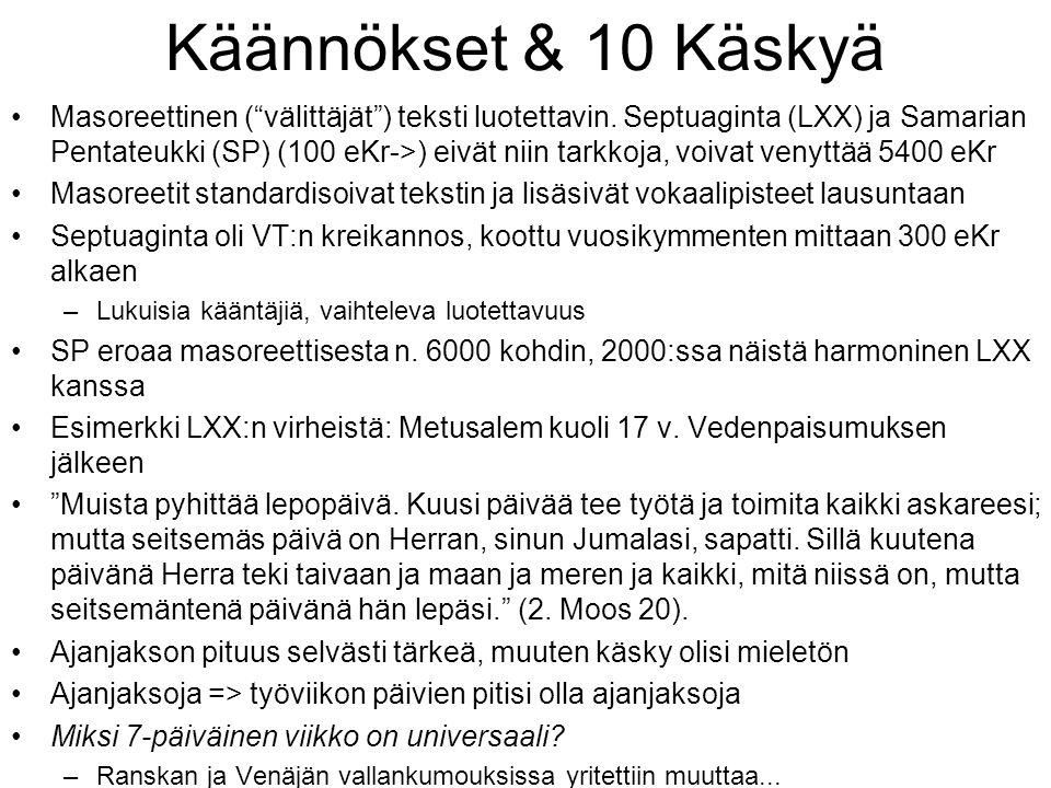 Käännökset & 10 Käskyä