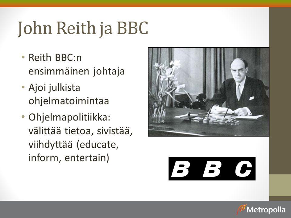 John Reith ja BBC Reith BBC:n ensimmäinen johtaja