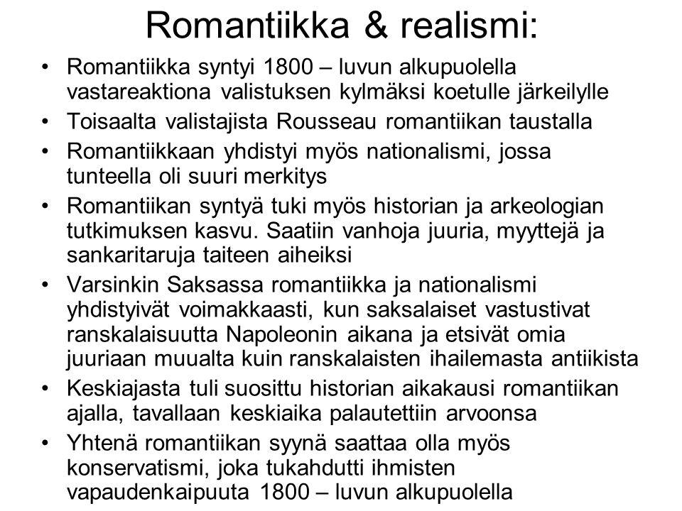 Romantiikka & realismi: