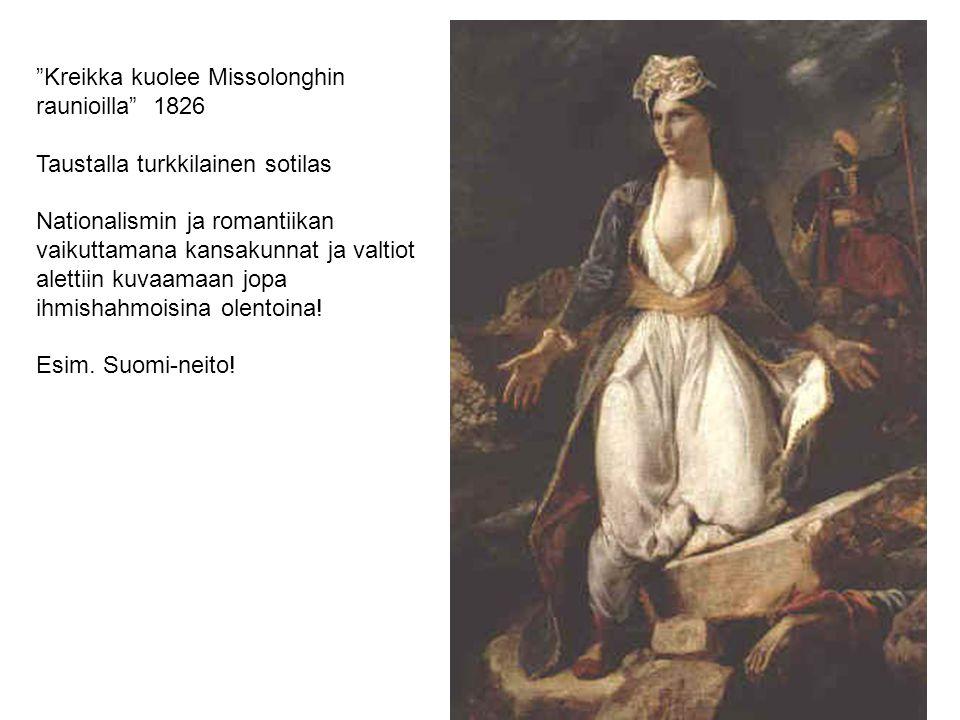 Kreikka kuolee Missolonghin raunioilla 1826