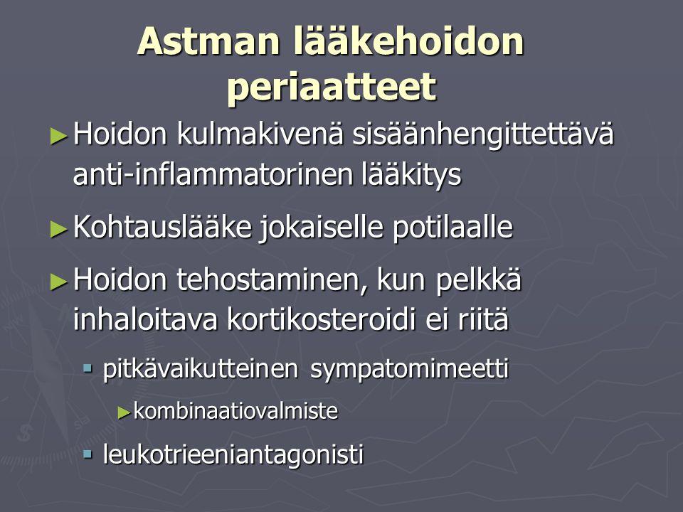Astman lääkehoidon periaatteet