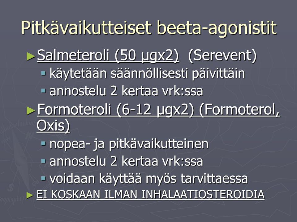 Pitkävaikutteiset beeta-agonistit
