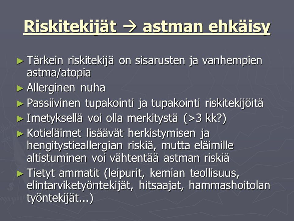 Riskitekijät  astman ehkäisy