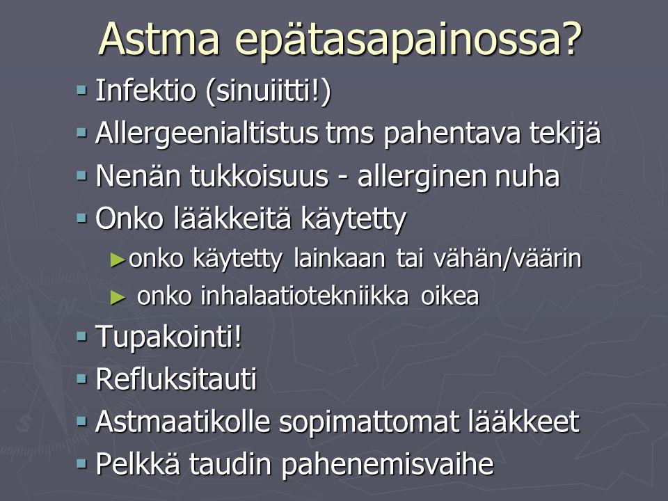 Astma epätasapainossa