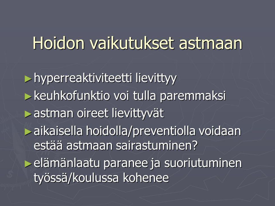 Hoidon vaikutukset astmaan