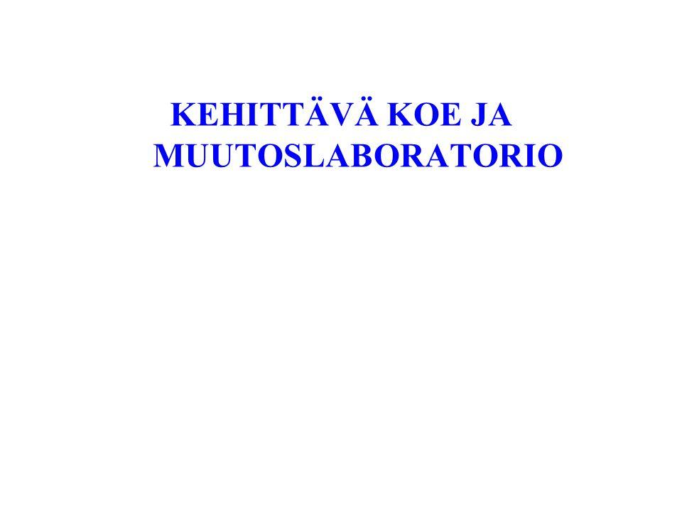 KEHITTÄVÄ KOE JA MUUTOSLABORATORIO