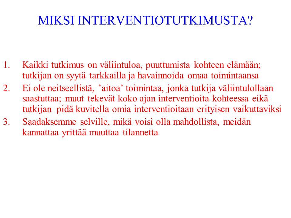 MIKSI INTERVENTIOTUTKIMUSTA