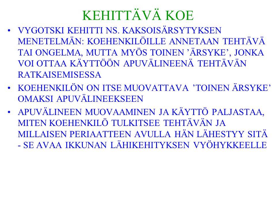 KEHITTÄVÄ KOE