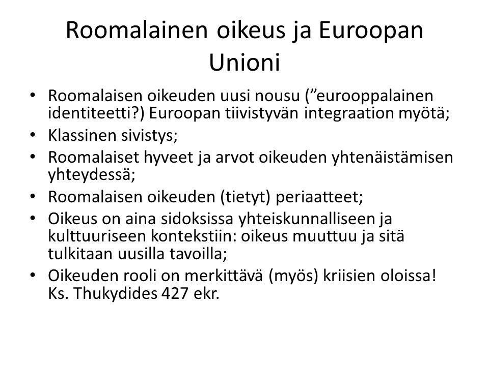 Roomalainen oikeus ja Euroopan Unioni