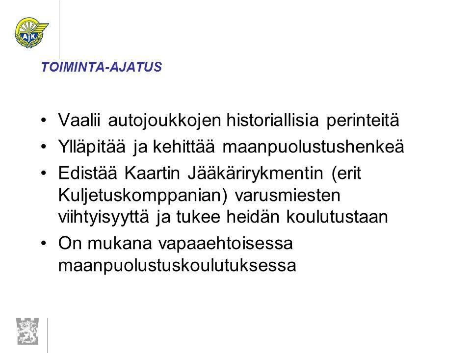 TOIMINTA Kilta on mukana tukemassa yhdessä Kaartin Jääkärirykmentin killan ja muiden yhteistyökiltojen kanssa Kaartin Jääkärirykmentin toimintaa.
