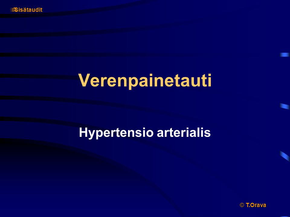 Hypertensio arterialis