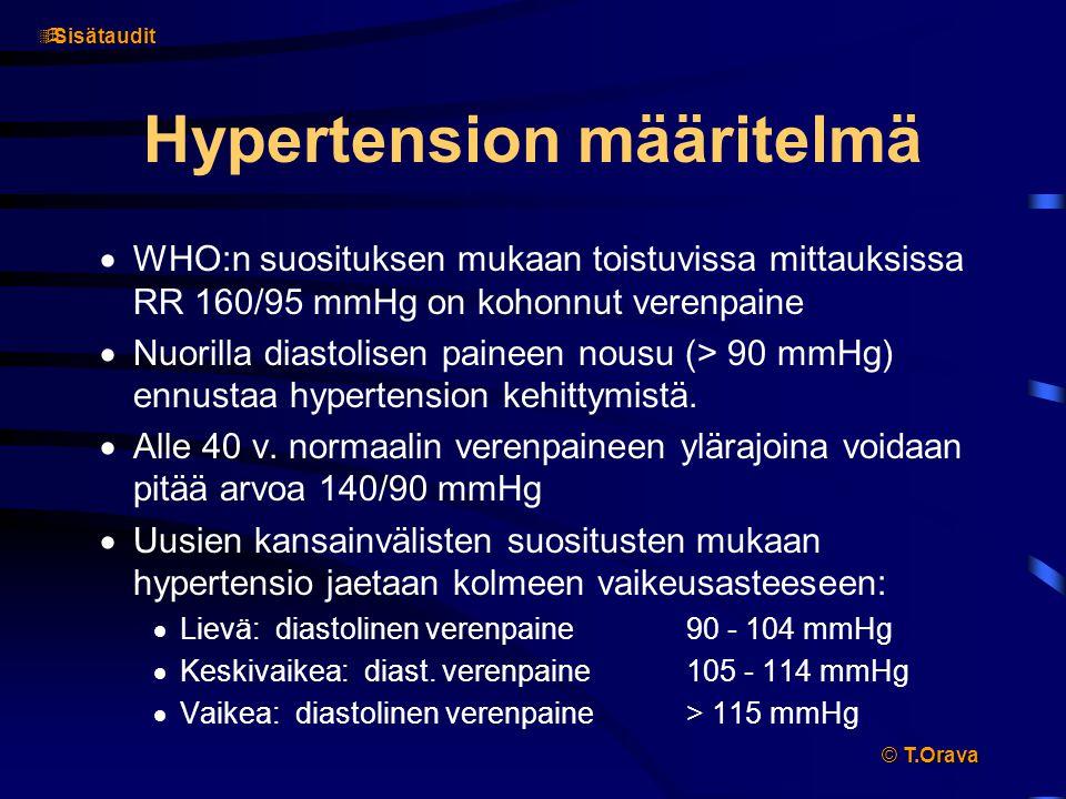 Hypertension määritelmä