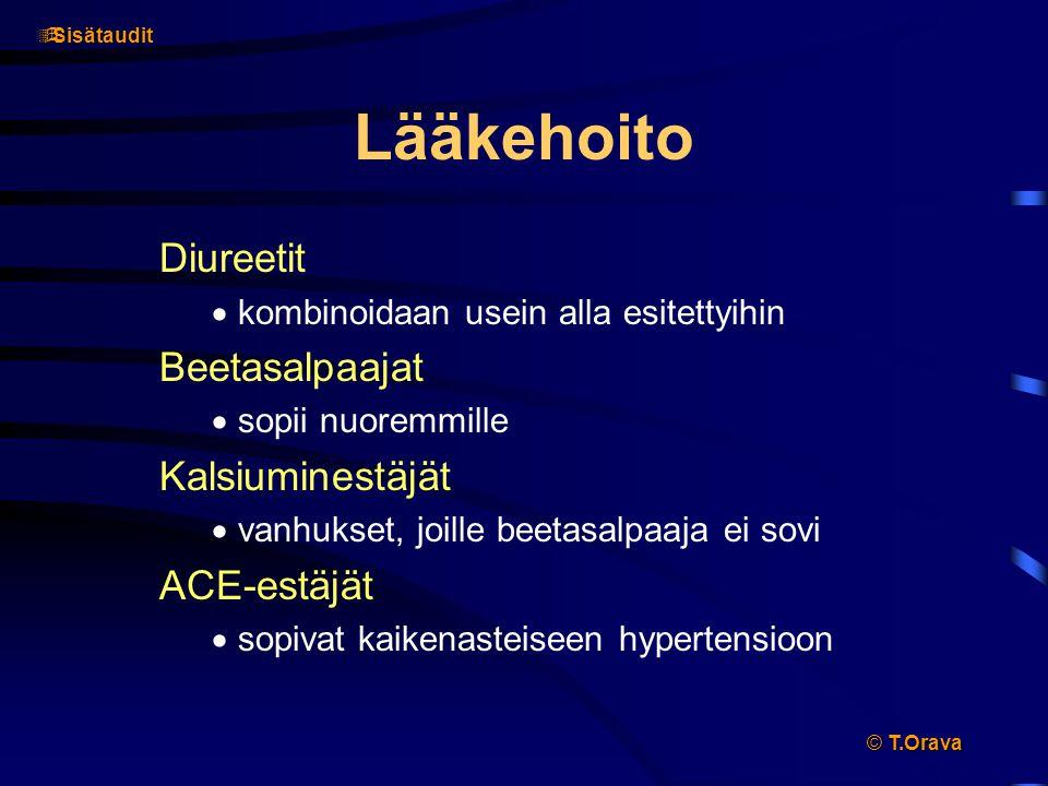 Lääkehoito Diureetit Beetasalpaajat Kalsiuminestäjät ACE-estäjät